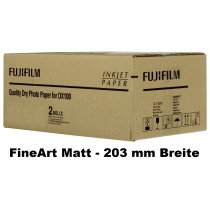 Fuji DX100 Papier FineArt Matt 203mm x 60m, 230g/m³