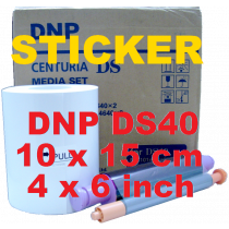 Mediaset DNP DS40 - Sticker 10x15cm / 4x6 inch - 2x400 Prints