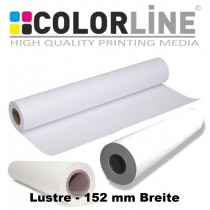 Colorline-Papier Lustre (Satin) 152mm x 65m, 270g/m³ für Fuji DX100 / Espon D700