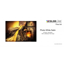 Colorline - Fine Art - 270 gsm, Photo White Satin, A4, 25 Blatt