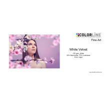 Colorline - Fine Art - 270 gsm, White Velvet, A4, 25 Blatt